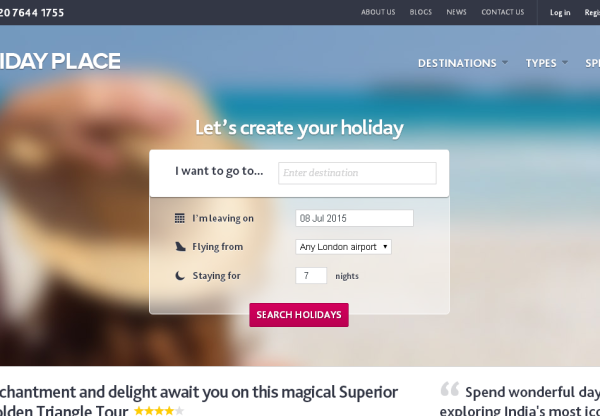 The Holiday Place affiliate programme – LIVE