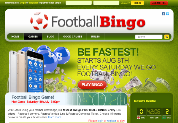 New Merchant – Football Bingo