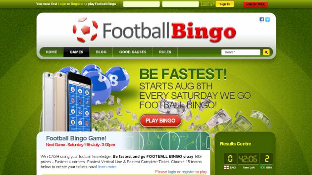 New Merchant – Football Bingo