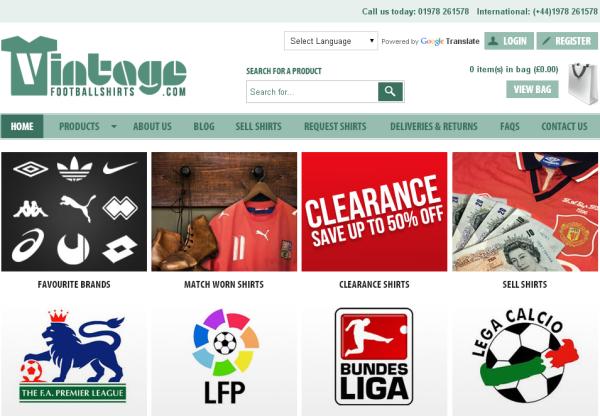 New Merchant – Vintage Football Shirts