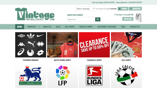 New Merchant – Vintage Football Shirts