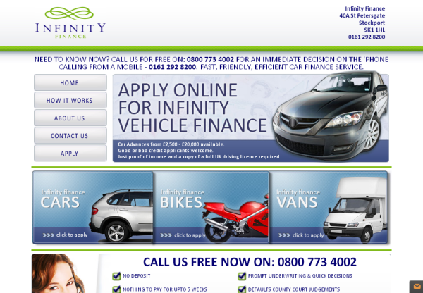 New Merchant – Infinity Car Finance