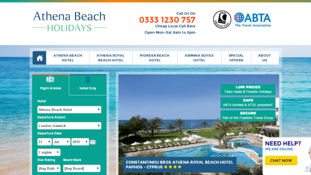 Athena Beach Holidys: Offers of the week