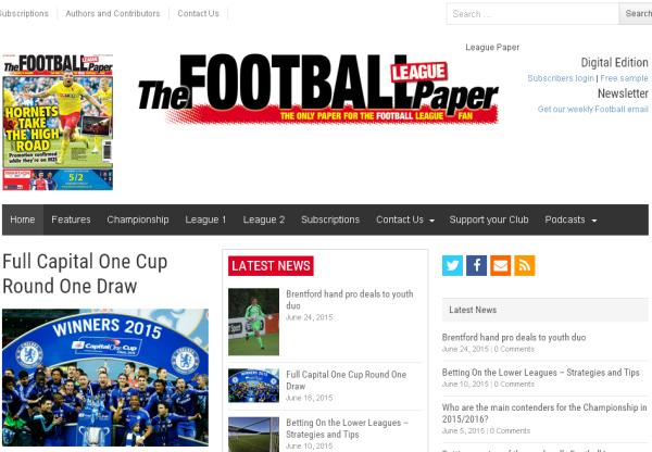 New Merchant – The Football League Paper