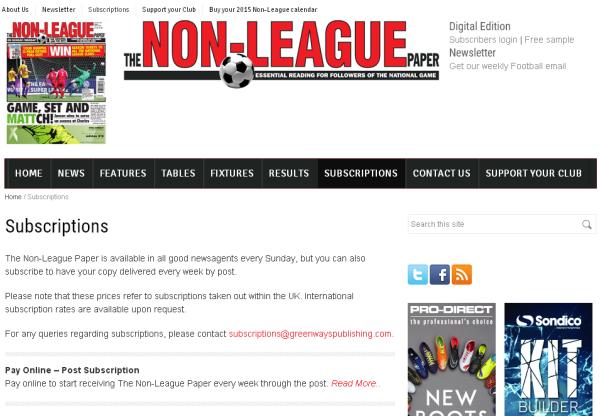 New Merchant – The Non League Football Paper