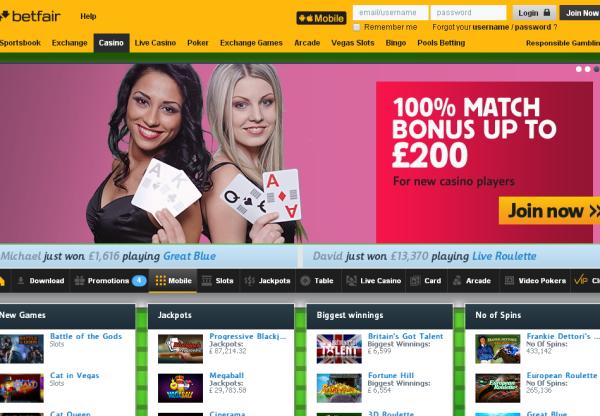 New Merchant – Betfair Casino
