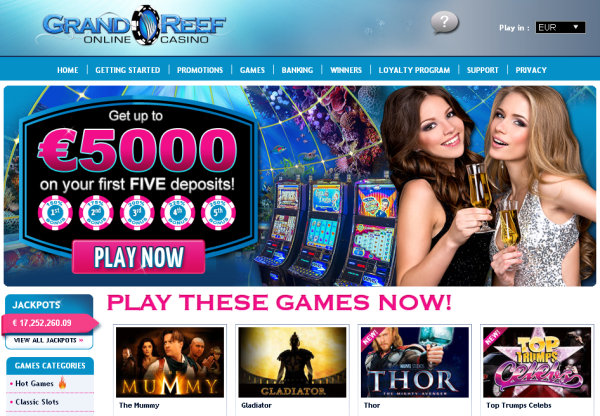 New Merchant – Grand Reef Casino