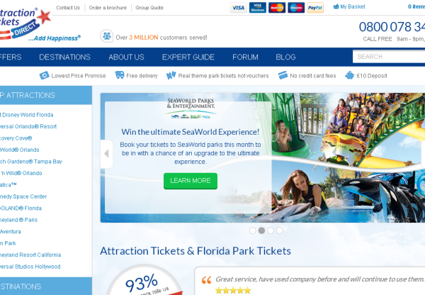 New Merchant – Attraction Tickets Direct