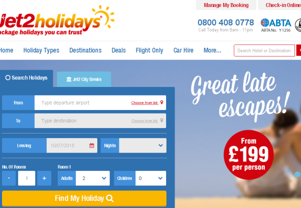 Jet2Holidays – Up to £60 off all holidays!!
