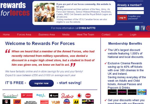 AffiliateFuture New programme-  Rewards For Forces