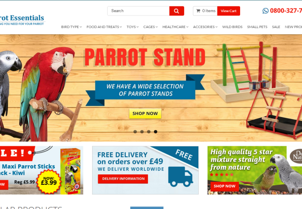 New merchant Parrot Essentials!