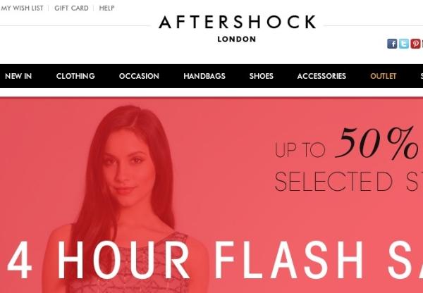 24 Hour Flash Sale at Aftershock London