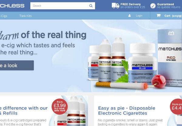 New Advertiser – Matchless Ecig