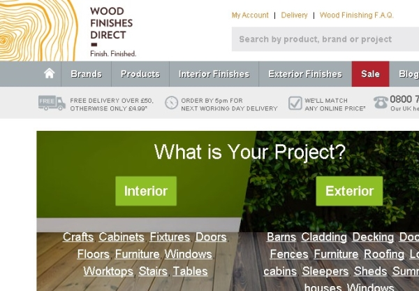 Wood Finishes Direct – New product incentives