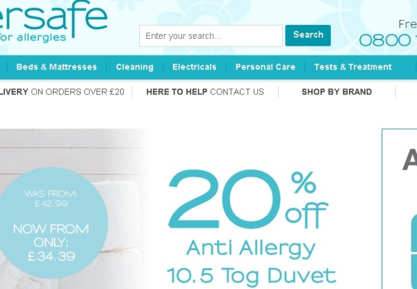 Allersafe's latest voucher codes and special offers