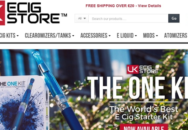 UK ECIG STORE Increase voucher code from 5% to 20%