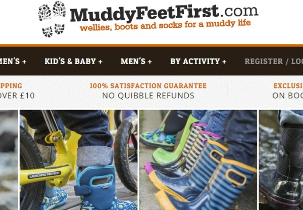 Muddy Feet First: Latest voucher codes