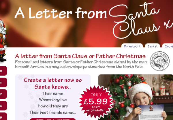 Earn 40% Commission with Father Christmas Letters