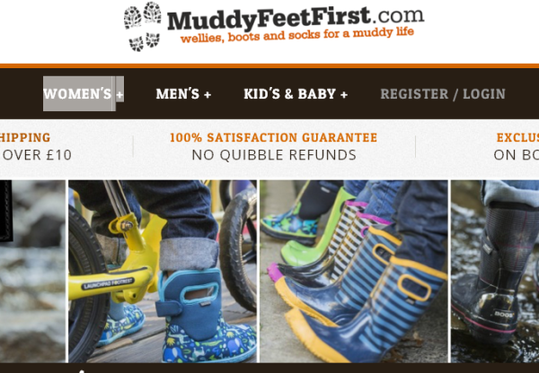 10% Discount Code with Muddy Feet First