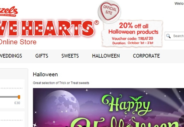 LoveHearts October promotions!