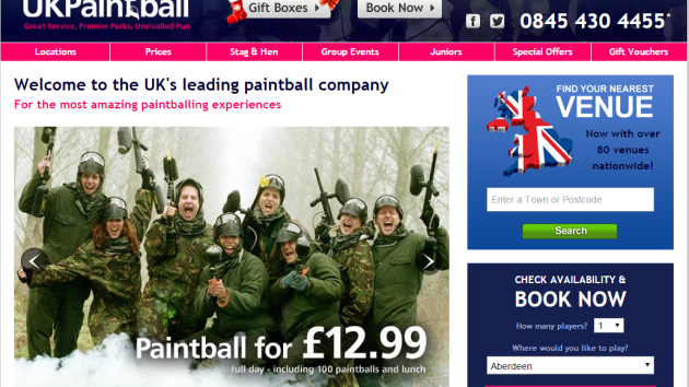 UKPaintball Have Relaunched Their Christmas Offer: 30% Commission!