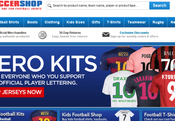 15% OFF EVERYTHING WITH UKSOCCERSHOP – TODAY ONLY!