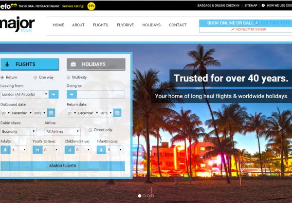 New Advertiser: Major Travel!