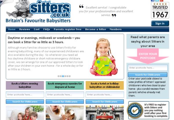 New Advertiser: Sitters!