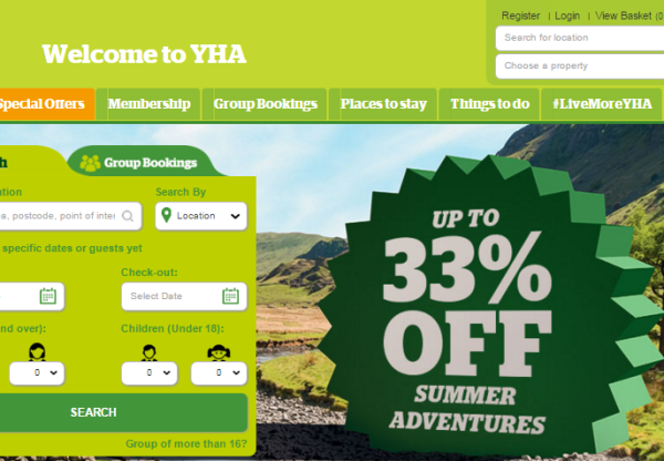 New Advertiser – YHA England and Wales