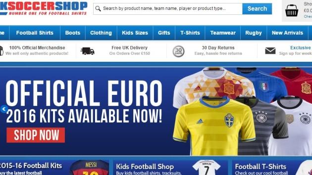 FREE Football Shirt Printing at UKSoccershop