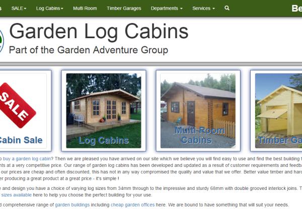 New Advertiser: Log Cabin Kits!