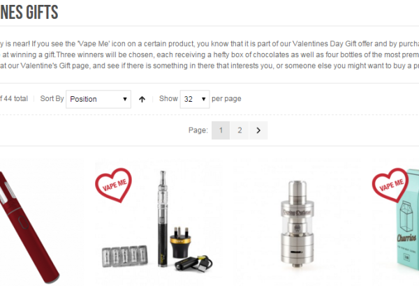 Valentine's Day gift offer from UK Ecig Store!