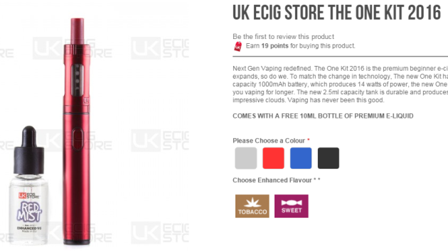 Launch of the new 'One Kit' from UK Ecig Store!