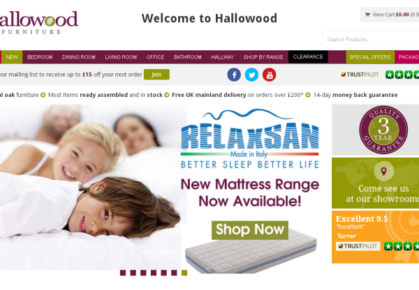 New Advertiser Hallowood Furniture!