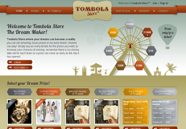New Advertiser: Tombola Store!