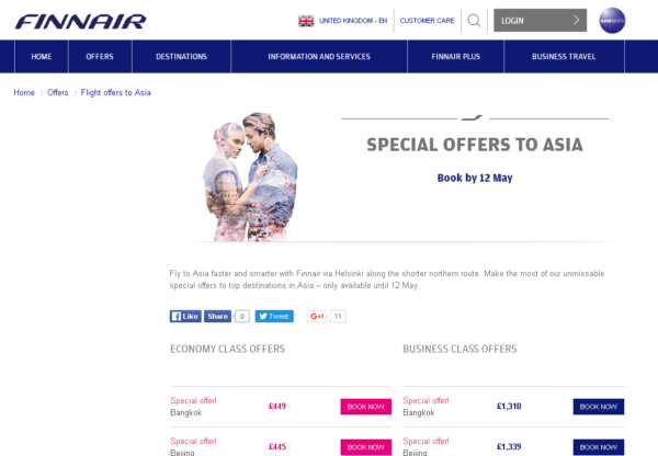 New Advertiser: Finnair !