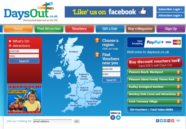 New Advertiser: Days Out!
