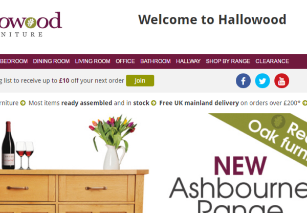 New offer from Hallowood Furniture
