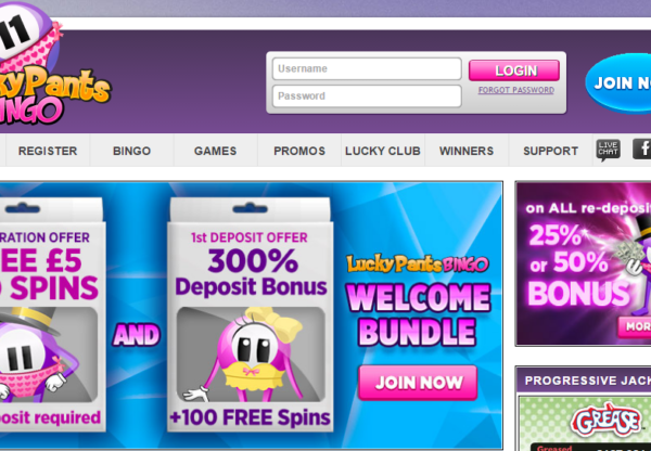 New Advertiser: Lucky Pants Bingo!