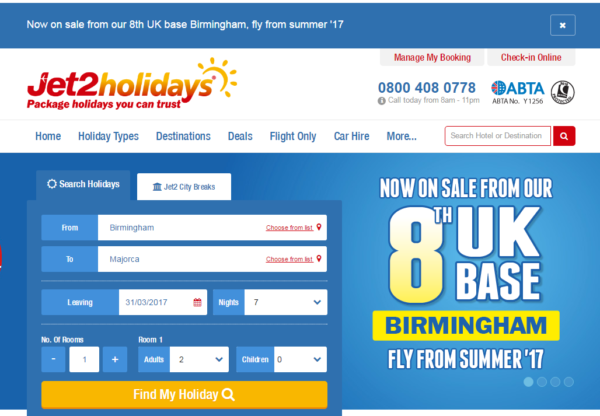Jet2.com and Jet2holidays Land at Birmingham Airport