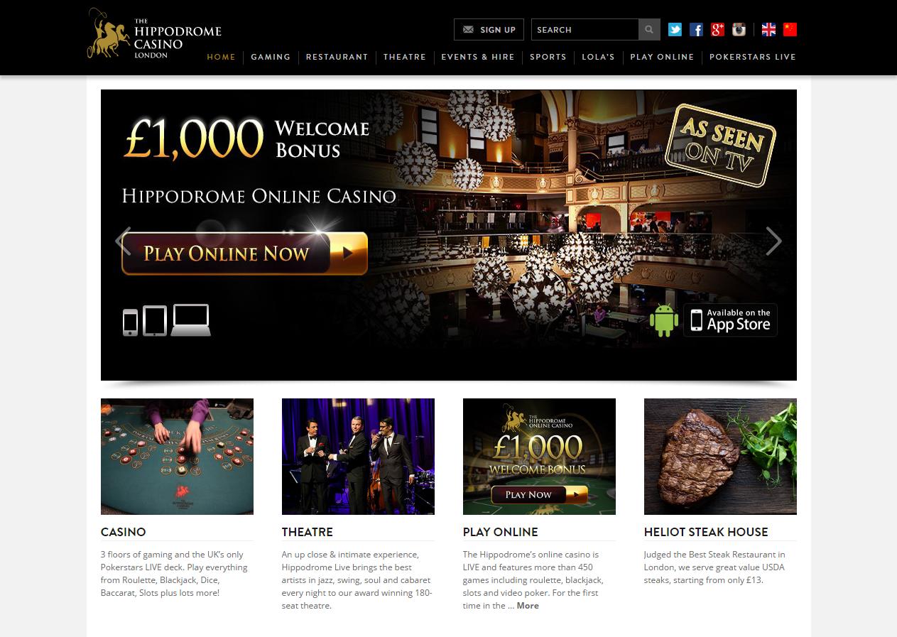 Hippodrome casino online 10 free