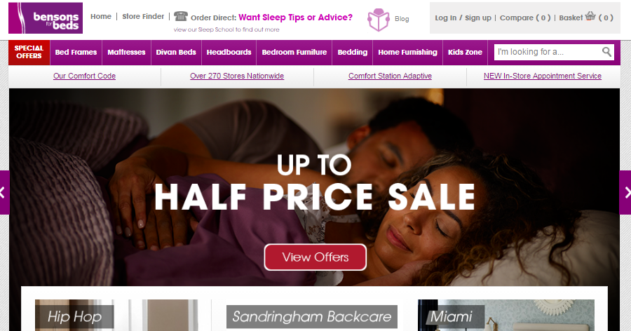 Bensons for Beds – August Bank Holiday promotion!