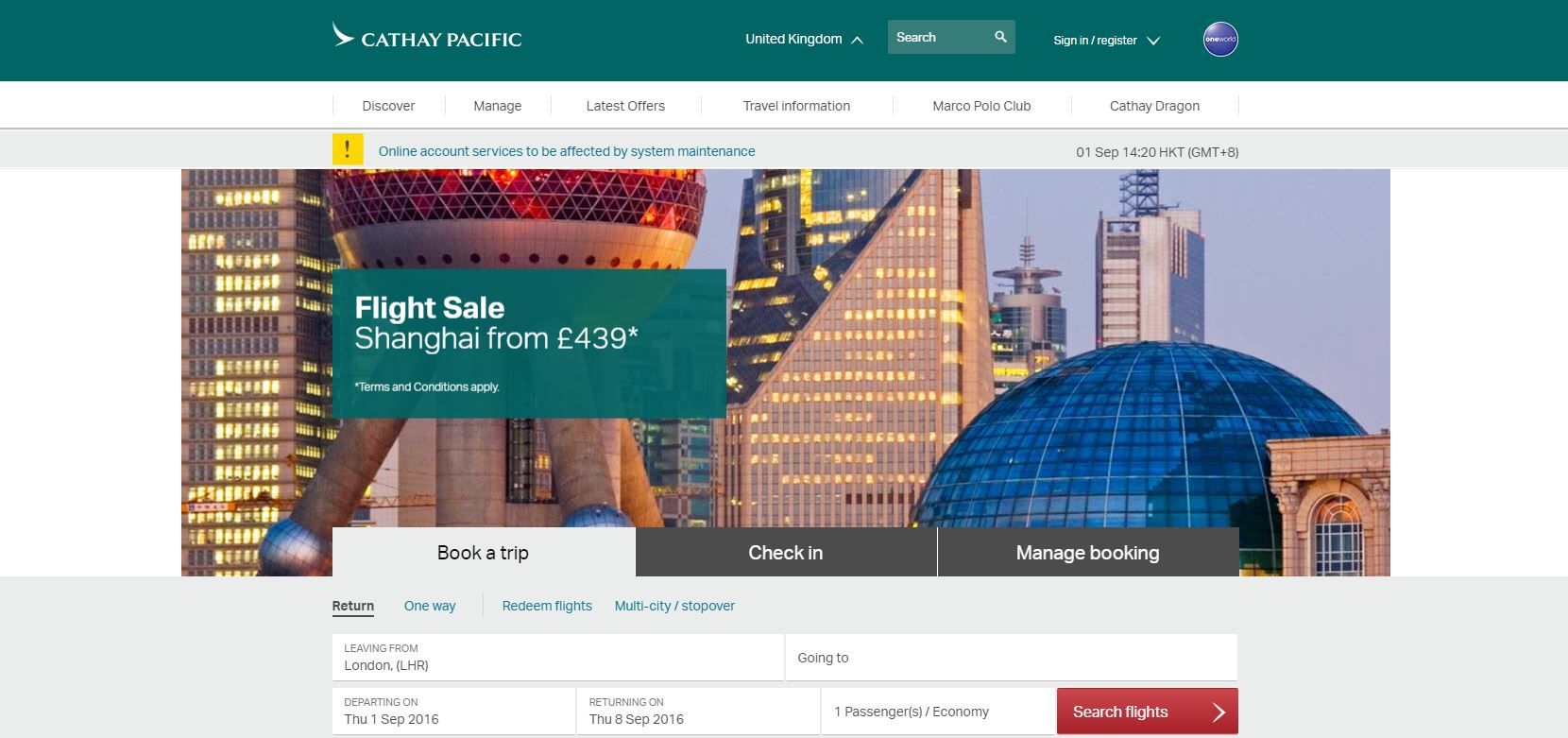 Join the Cathay Pacific Affiliate Programme!