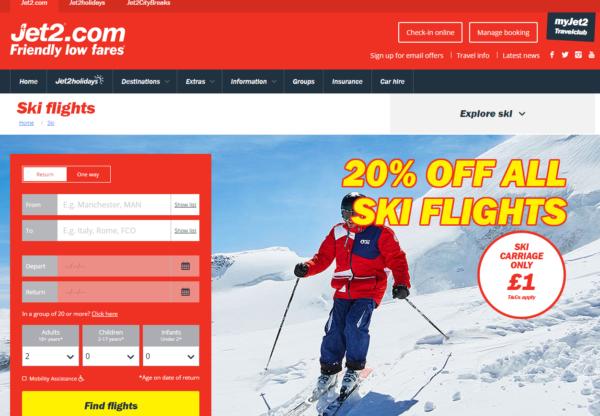 It's take off for Jet2.com's new Ski site