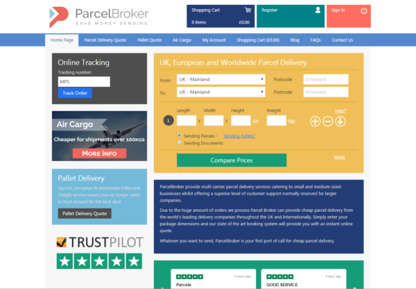 New Advertiser – ParcelBroker!