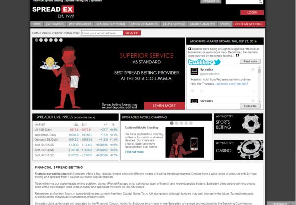 New Advertiser – Spreadex Finance!