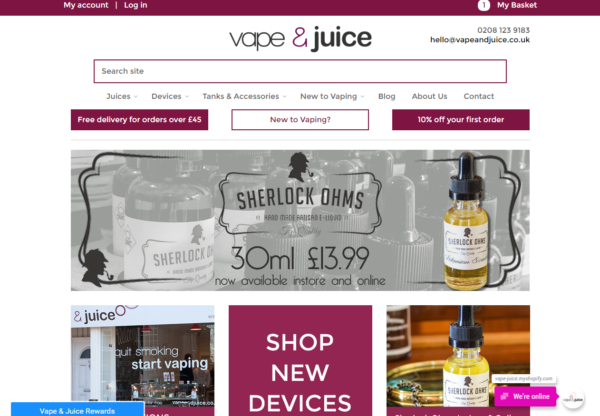 New Advertiser  – Vape and Juice!