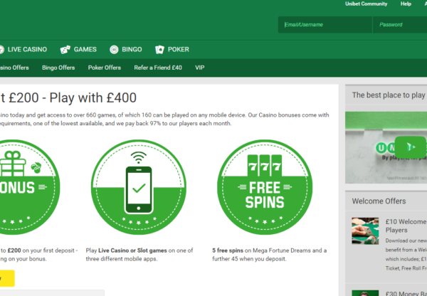 New Advertiser: Unibet Casino