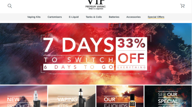 New Advertiser – VIP Electronic ECig