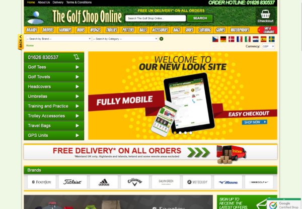 New Advertiser – The Golf Shop!